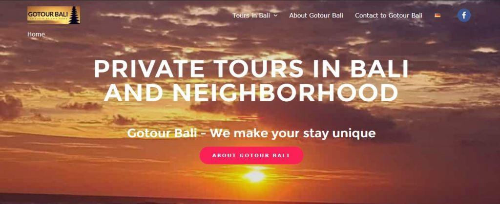 Reviews webdesign and seo Gotour Bali